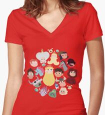 Star vs. the Forces of Evil Characters Women's Fitted V-Neck T-Shirt