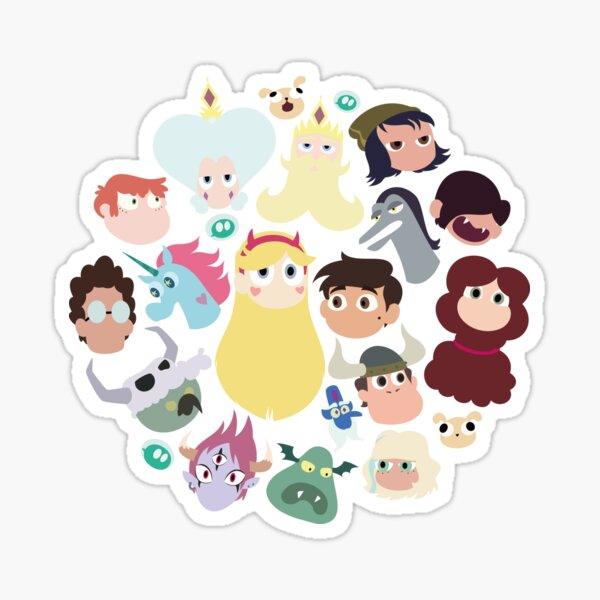 Star vs. the Forces of Evil Characters Sticker