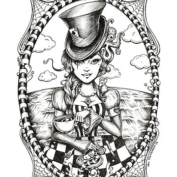 'We're all mad here' Inked  by MissFinklestein