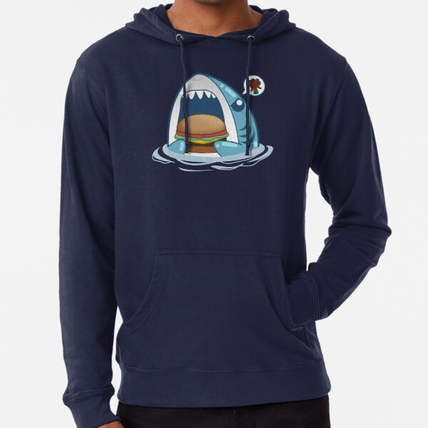 Hangry Shark Lightweight Hoodie