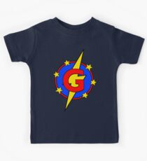 My Cute Little Super Hero - Letter G Kids Tee