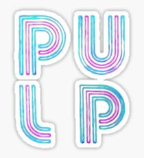 Pulp - Neon Logo Sticker