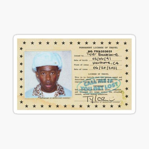 Permanent License Travel Of Tyler Poster Sticker
