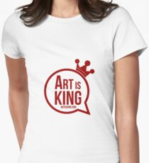Art Is King  Women's Fitted T-Shirt
