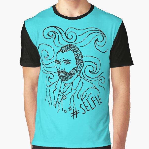 Starry Night Selfie Graphic T-Shirt