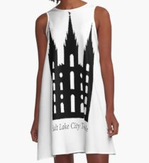 Salt Lake Temple A-Line Dress