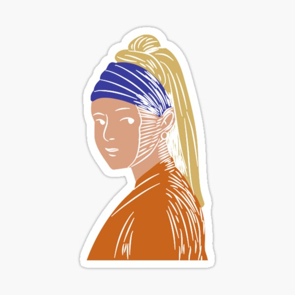 Vermeer's Girl with the Pearl Earring Sticker