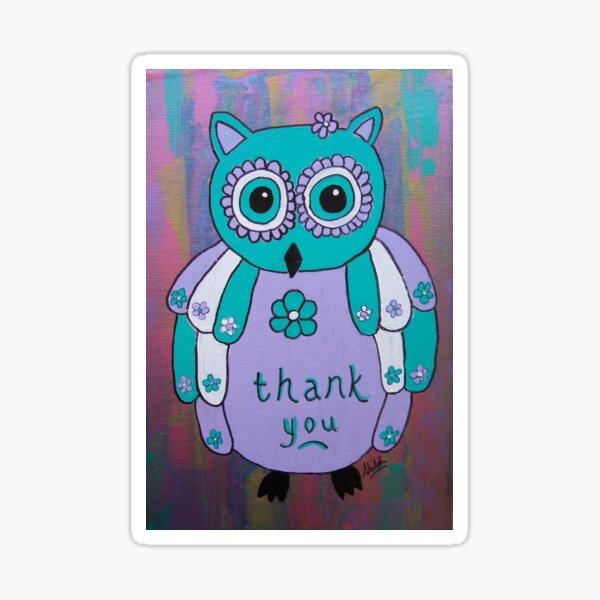 Thank You Owl Sticker