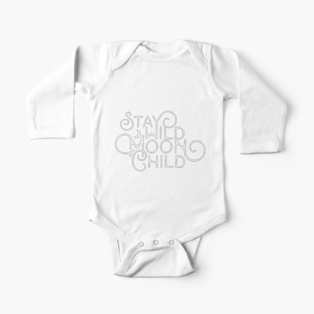 Moon Child Baby Black Bib