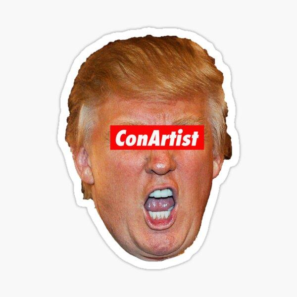 Trump Con Artist Sticker