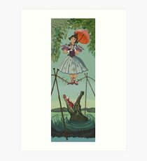 Haunted Mansion Tightrope Girl  Art Print