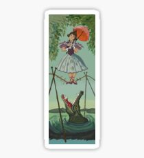 Haunted Mansion Tightrope Girl  Sticker