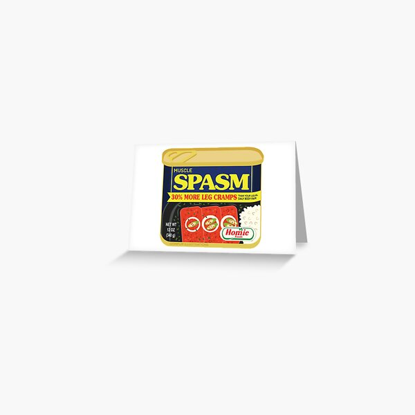 Muscle Spasm  Greeting Card