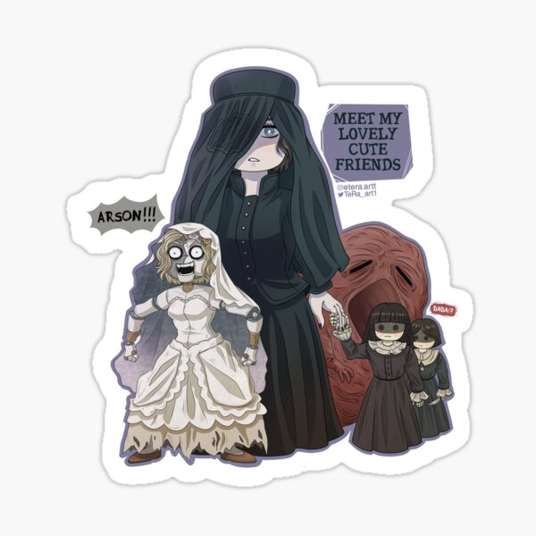 Donna Beneviento und Angie von Re8 Crazy doll Sticker