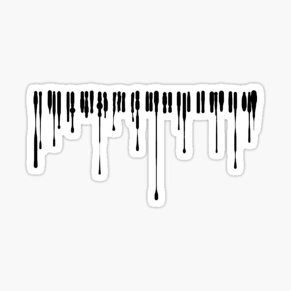 Splatter Piano (Black) Sticker