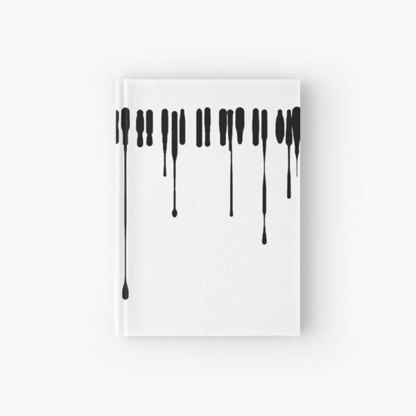 Splatter Piano (Noir) Carnet cartonné