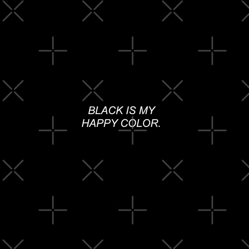 "Happy Color black is my happy color tumblr quote"" spiral notebooks"