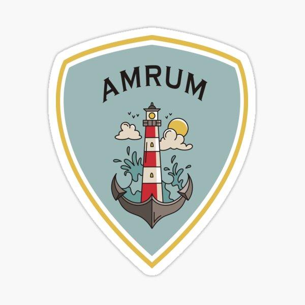 Amrum Leuchtturm Wappen Sticker