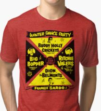 Buddy Holly's Winter Dance Party Tri-blend T-Shirt