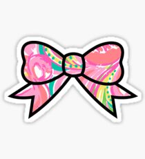 Big Bow Lilly Pulitzer Print 2 Sticker