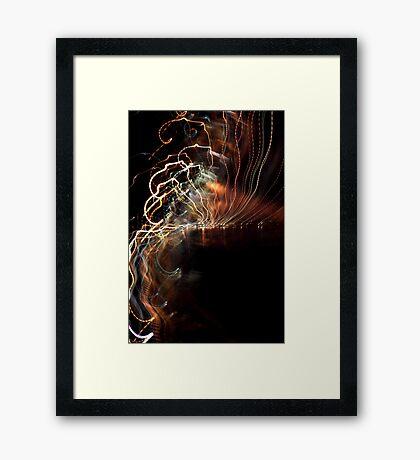 Twist and Shake Framed Print