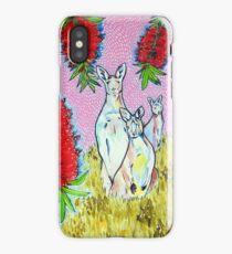 Kangaroos with Bottlebrush iPhone Case/Skin