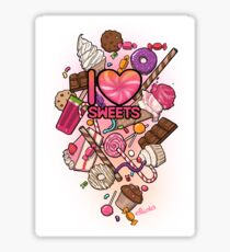 I Love Sweets Sticker