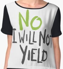 No I Will Not Yield Women's Chiffon Top