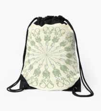 Scissor Circle Drawstring Bag