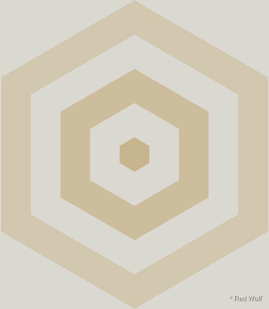 Geometric Pattern: Hexagon Hive: Sandstone by * Red Wolf