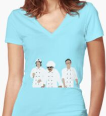 Human Cake Women's Fitted V-Neck T-Shirt