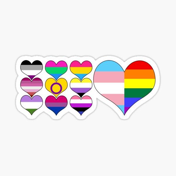 LGBT Hearts Sticker