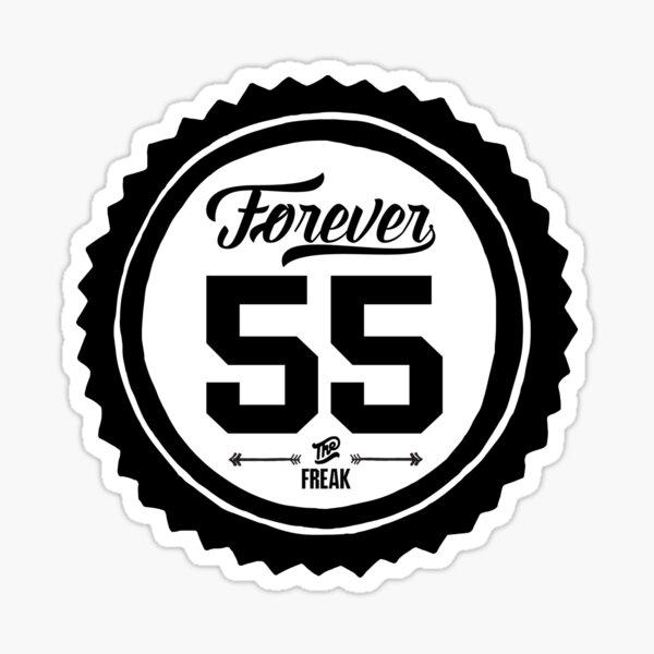 "Forever 55 ""The Freak"" Black Impressum Gedenkkunst Sticker"