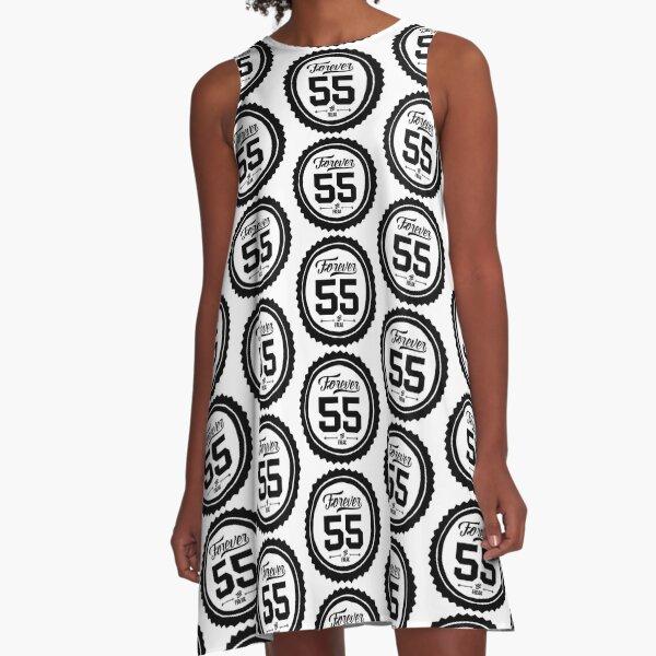 "Forever 55 ""The Freak"" Black Imprint Commemorative Art A-Line Dress"