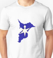 Flag Map of Chiba Prefecture  T-Shirt