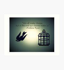 Bird or Cage? Art Print