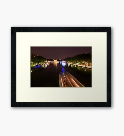 Boat on the canal Framed Print