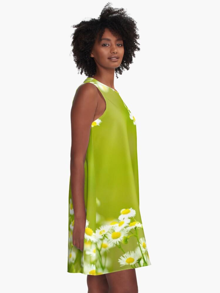 Alternate view of Philadelphia Fleabane Wildflowers in Soft Focus A-Line Dress