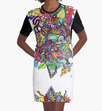 Rainbow Tech, by Inktangle Graphic T-Shirt Dress