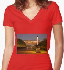 Bond University Women's Fitted V-Neck T-Shirt