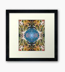 Mirror Art Blue Sphere Framed Print