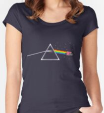 Dark Side of Nyan Cat Women's Fitted Scoop T-Shirt