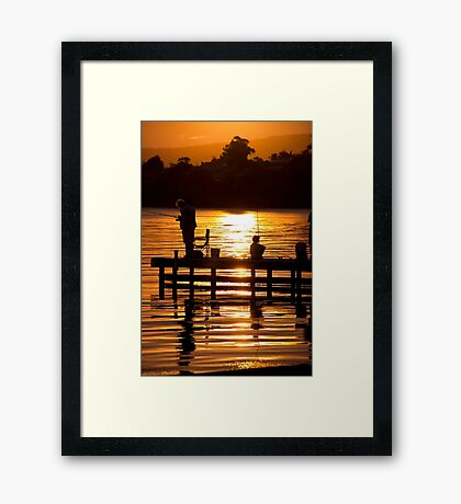 Fishing with the Kids Framed Print
