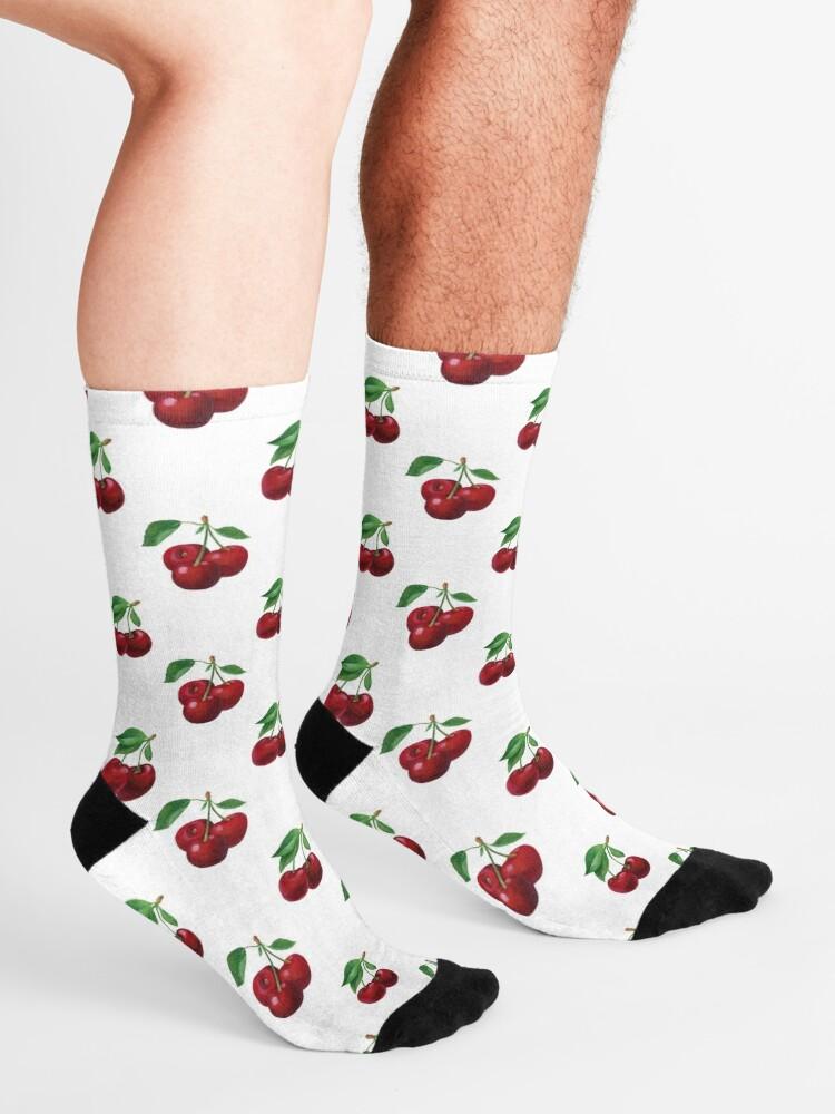 Alternative Ansicht von Sommerkirsche Socken