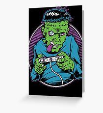 Franken Gamer Greeting Card