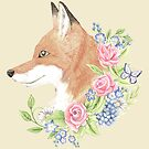 Floral Fox by LCWaterworth