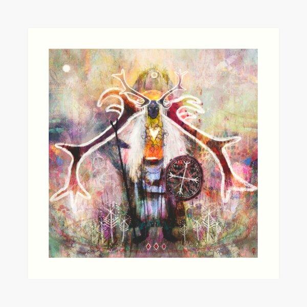 Hrán Móddren - Mother Of Reindeer Art Print