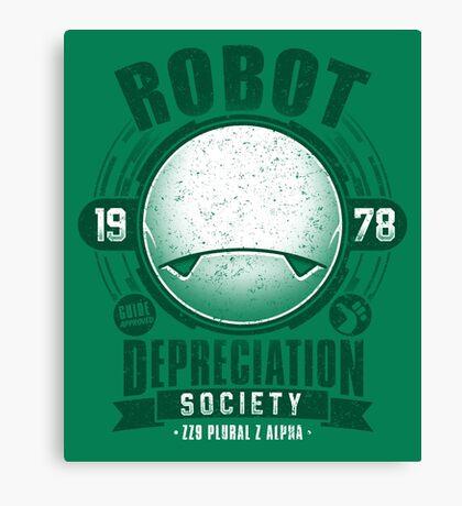 Robot Depreciation Society - Marvin the Paranoid Android Canvas Print