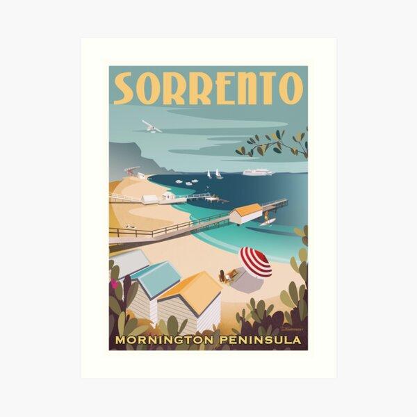 Sorrento Vintage-style Travel Poster Art Print