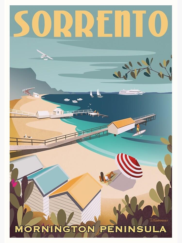 Sorrento Vintage-style Travel Poster by dylansketchbook